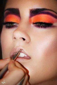 Orange punch makeup