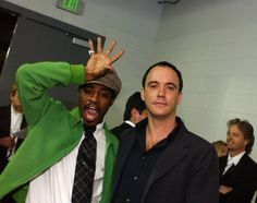Candid GRAMMY Moments - André 3000 And Dave Matthews - Yes, but can you do this? André 3000 and Dave Matthews do that voodoo they do at the 46th GRAMMY Awards in 2004