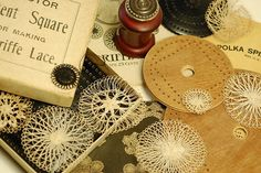 Antique teneriffe lace tools by wondertrading, via Flickr