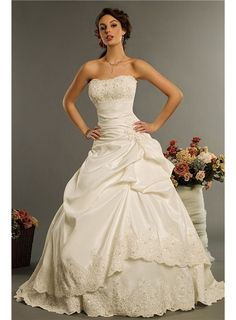 Charming Corset Sweetheart Strapless Beading and Embroidery Pleated Ball Gown Wedding Dress