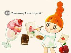 Threescoop's Color Adventure by Juliette Kim