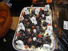 Halloween children's party dessert.