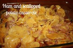 Ham and scalloped potato casserole. Quick and easy, add some veggies and you have dinner done :)