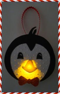 Craftily Yours: Penguin Tea Light Ornament