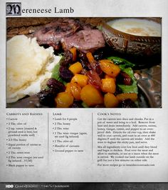 """""""We served our with Naan bread, warmed in the oven, and iced milk sweetened with honey."""" MORE RECIPES: http://itsh.bo/LQC1sC #lamb #gameofthrones #food"""