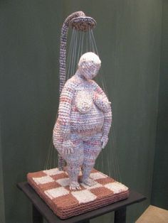 Crochet Woman by Yulia Ustinova . . . click through for a link to pics of some of her artwork.