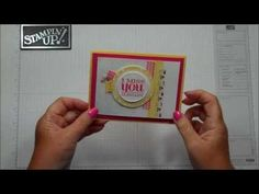 """Stampin' Up! ... card making tecnique video"""" PaperPiercing Background with Dawn ... luv the pierced circles with the circle focal point ... YouTube video"""
