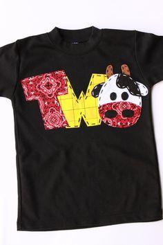 Ummm, HOLY CUTE SHIRT!   barnyard birthday shirt, two, cow, 2nd,  t shirt, barn yard, farm theme, boy black shirt. $23.99, via Etsy.