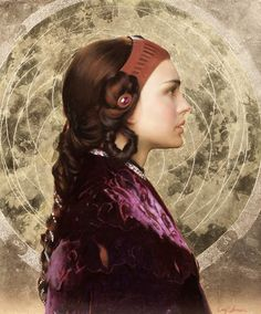 Star Wars Art: Oil Portrait of Padme by Carl Samson on http://www.artistsnetwork.com