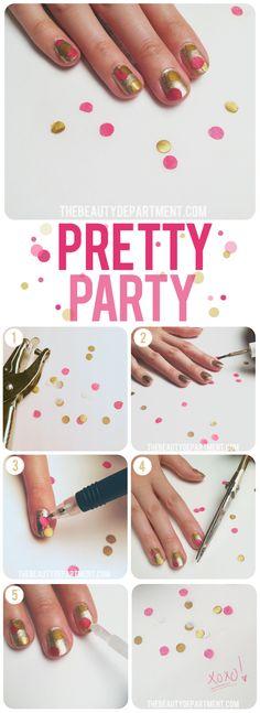 Confetti nails!