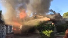 """Youtube.. Good Samaritan man rescued from a Ca. burning house. Known as the """"Man in the blue hat.""""  Dramatic moment man is carried out of burning home by a stranger just before it exploded!  Salute!  Salute!  Faith in Humanity Restored. October 2014"""