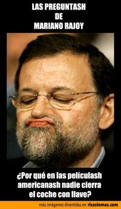 Las preguntash de Mariano Rajoy: películash americanash.