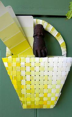 Woven Paint Chip Front Door Basket