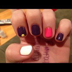 Nails for advent. You paint a little yellow dot for the candle that is lit each week!