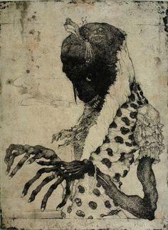 Tetsuro Komai #illustration #drawing #dark #fingers