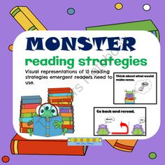 Monster Reading Strategies from Notveryfancy on TeachersNotebook.com - - Illustrated reading strategies for emergent readers. Perfect for ELL.