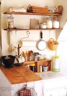 Simple kitchen | simple kitchen, white, wood | Flickr - Photo Sharing!