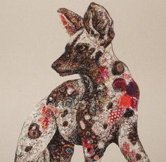 ♒ Enchanting Embroidery ♒ Sophie Standing: Textile Embroidery Art