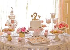 Bridget's Pink and Gold 2nd Birthday Party - Project Nursery