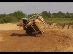 RUSSIAN TRUCK GAZ 51 Driving On Two Wheels