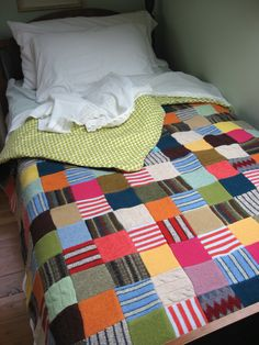 Patchwork from wool sweaters
