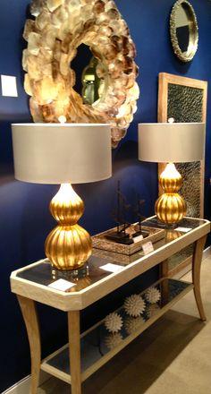 Beautiful console lamps
