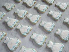 """Something Blue"" bridal shower sugar cookies"
