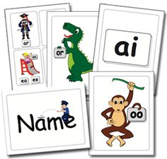 Sound Fun Phonic Flash Cards.  Music-Motion-Visual Cues!