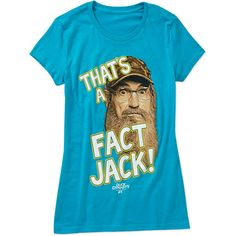 Duck Dynasty Juniors That's a Fact Jack Graphic Tee: Juniors #duckdynasty