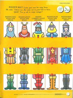 Werkblad ridders