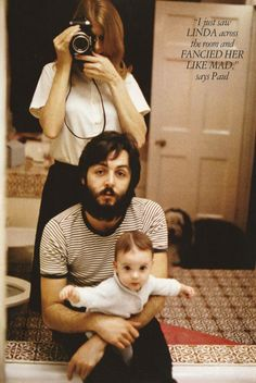 """i just saw linda across the room and fancied her like mad"" -- paul mccartney icon, paul mccartney, fanci, camera, inspir, coupl, beauti, beatl, families"