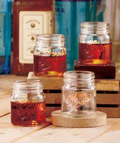 Set of 4 Mason Jar Shot Glasses #LakesideCollection #masonjars