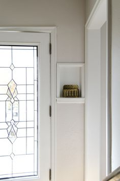 Entryway nook detail
