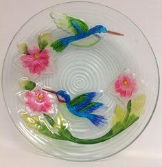 """Hummingbird Couple birdbath. 17 1/2""""  $44.00"""