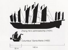 Another comparison of the Treasure ship with the Santa Maria.