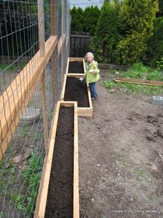 Raised Garden Beds a la Knock Off Wood - love the super skinny one - perhaps for along my fence where we get the best sun???