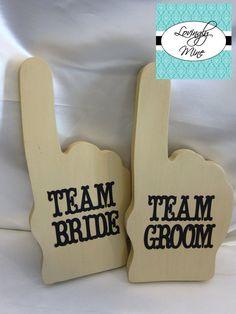 Photobooth Props  Tan Team Bride & Team Groom Foam by LovinglyMine, $25.00
