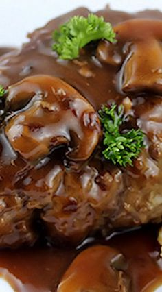 Salisbury Steak with Mushroom and Wine Sauce Recipe