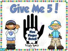 Guided Reading Poster-5 Finger Retell-FREEBIE @Kelsie Lynn
