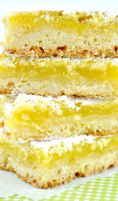 Luscious Lemon Bars--Really Delicious With Just The Right Combo Of Sweet And Tart And Darn Near As Easy As A Box Mix!!!
