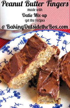 Baking Outside the Box | Peanut Butter Fingers Bars are so easy to make and too good to last.