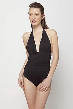summer swimsuits, beach wear, style, halter swim suit, anthropologie, revers halter, halter suit, swim suitne, eye