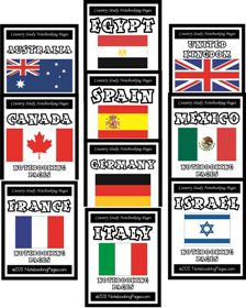 Individual Country Study Notebooking Pages: Lots of great notebook pages and maps for ECC plus music studies and other studies