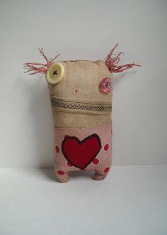 OMG this is cute!! Handmade Monster Plush (Luff Monster Nanette)