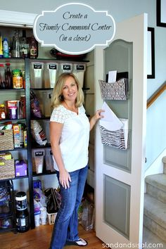Create a Family Command Center in a Closet