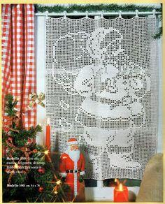 Mille idee perNatale: Tendina Babbo Natale