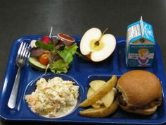 Food Day 2013 lunch, Decorah, Iowa. Local BBQ pork and veggies from school garden.