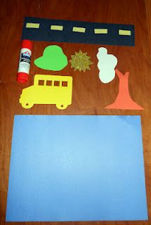 I can paste!  Creating a picture out of foam cut-outs.  Process!!