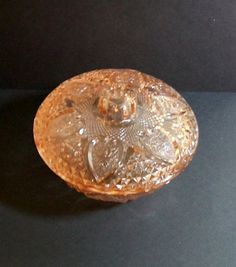 Pink Depression Glass Candy Dish rose cut glass by luckedogsattic, $20.00