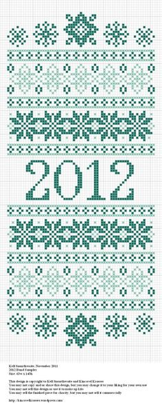 Pretty 2012 sampler. Now for a project to go along with it...